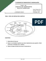 Guia de Correcção Teste 1 Logística Transportes 2018