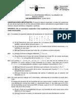 prueba de acceso matematica