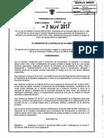 Decreto 1833 Del 7 de Noviembre de 2017