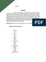 Diagrama de flujo de salsa de piña y cilantro