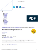 Machine Learning vs Statistics