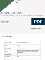 Informen Nacional Septiembre 2019.Trespuntozero PRENSA
