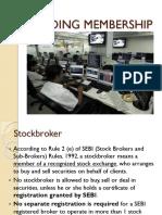 3. Trading Membership 1