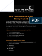 Pacific Elite Fitness Recipes and Meal Planning