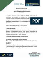Convocatoria CSIU4 (Español)