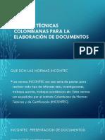 Normas Técnicas Colombianas Para La Elaboración de Documentos