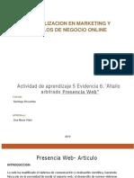 Evidencia 6 Articulo Arbitrado Presencia Web