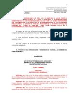 Ley de Responsabilidad de los servidores publicos del estado de tlaxcala y sus municipios