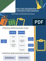 Kelebihan Dan Kelemahan Strategi-strategi Pengajaran