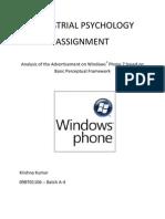 Windows Phone 7 Perceptual Analysis