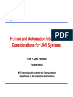 human and automatiom integration considerations for uav systems