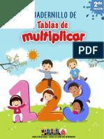 cuadernillo de tablas de multiolicar