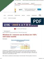 Windows 8.1 Remover Uso Do Disco Em 100% Sem Estar Usando _ Limon Tec