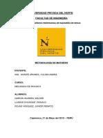 Informe de Metodologia de Mathews