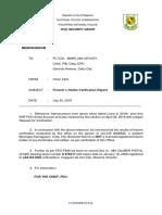 Firearms Verification Report
