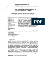 Performance evaluation of standalone double axis solar tracking system with maximum light detection MLD for telecommunication towers in Malaysia
