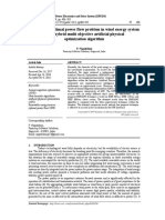 Solution for optimal power flow problem in wind energy system using hybrid multi objective artificial physical optimization algorithm