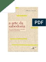 DocGo.net-Fazer o Download Do Livro a Arte Da Sabedoria de Baltasar Gracian