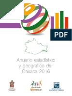 INEGI - Anuario Estadistico y Geográfico de Oaxaca 2016