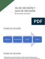 Teoria de Decision y Arboles de Decision