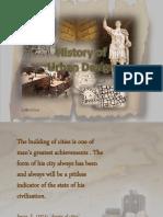History of Urban Design