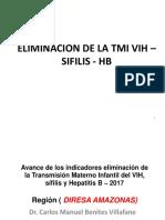 Eliminacion de La Tmi Vih – Sifilis