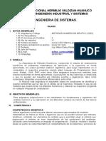 Silabo Métodos Numéricos 2019-1 unheval