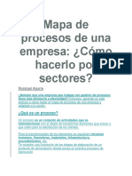 Mapa de Procesos Por Sectores