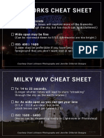 Night Sky Photography Cheat Sheets