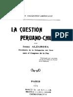 La Cuestión Peruano-chilena. Isaac Alzamora