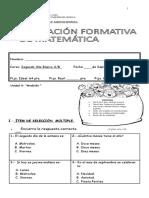 Evaluacion Formativa Matematica Unidad 5...Medicion