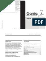 Manual Genie TZ - 34.20