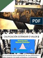 Calificacion z y Distribucion Normal de Probabilidad