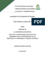 Informe de La Conferencia Magistral