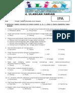 Soal IPA Kelas 5 SD Bab 1 Organ Tubuh Manusia Dan Hewan Dilengkapi Kunci Jawaban.pdf