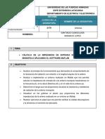 Informe Eimpedancia de La Antena