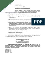 Affidavit of Guardianship; Elsa.docx