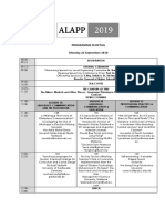 Programme as at 17 September 2019