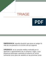 Emergencia y urgencia, triage