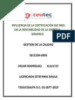 OscarRodriguez_31121727_Tarea-06_Influencia de La Certificación ISO 9001 en La Rentabilidad de La Empresas