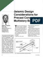 Seismic Design Considerations for Precast Concrete Multistory Buildings