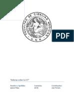 Informe de Las Observaciones en Terreno - UNR MIU
