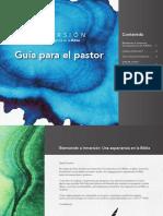 Inmersion Guia Para El Pastor