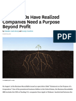 181 Top CEOs Have Realized Companies Need a Purpose Beyond Profit