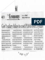 Business World, Sept. 17, 2019, Gov't salary hikes  to cost P110B over 3 years.pdf