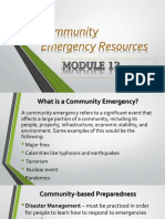 Mdule 12 Community Emergency Resources (1)
