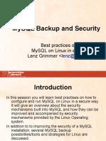 Mysql Backup Security
