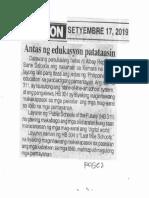Ngayon, Sept. 17, 2019, Antas ng edukasyon patataasin.pdf