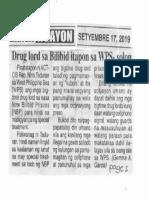 Ngayon, Sept. 17, 2019, Drug lord sa Bilibid itapon sa WPS-solon.pdf
