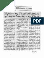 Ngayon, Sept. 17, 2019, Epekto ng Saudi oil attack pinaghahandaan ng Pinas.pdf